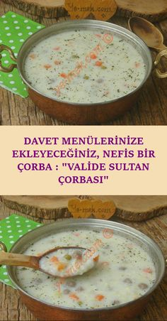 A Delicious Soup You Can Add to Your Invitation Menus: Valide Sultan Soup - A very delicious, nutritious and satisfying soup recipe that will suit your table … - Seafood Soup, Seafood Recipes, Soup Recipes, Turkish Recipes, Bean Soup, Pasta, Invitation, Sandwich Recipes, Food Menu