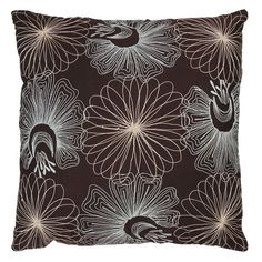 Rizzy Home Glam Floral Throw Pillow, Brown
