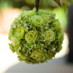 pomanders of lime green hydrangea - Google Search