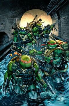Colors by the awesome Teo Gonzalez on my Teenage Mutant Ninja Turtles Seal Team! Thundercats, Teenage Ninja Turtles, Ninja Turtles Art, Tmnt, Gi Joe, Power Rangers, Les Oeuvres, Caricatures, Cool Pictures