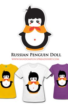 Kawaii Russian Penguin Doll T-Shirts