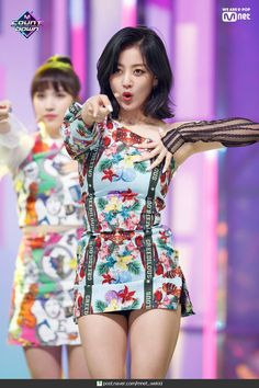 Photo album containing 37 pictures of TWICE Kpop Girl Groups, Korean Girl Groups, Kpop Girls, Stage Outfits, Kpop Outfits, Girly Outfits, K Pop, Twice Show, Kpop Mode