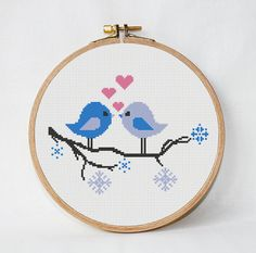 modern love cross stitch pattern tree with by AnimalsCrossStitch