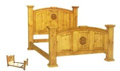 SCI Mexican Imports offers a huge selection on rustic bedroom furniture, pine bedroom furniture, wood bedroom furniture, solid wood bedroom furniture, and rustic pine bedroom furniture. Rustic Pine Furniture, Solid Wood Bedroom Furniture, Wood Furniture, Furniture Ideas, Round Dining Room Sets, Star Bedroom, Pine Beds, Mexican Furniture, Rustic Bedding