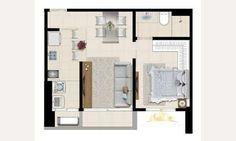 Apartamento de 38 m² com churrasqueira em Setor Leste Universitario, Goiania - ZAP IMÓVEIS