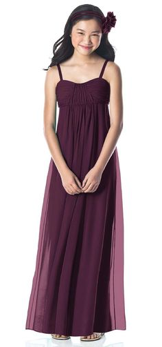 Junior Bridesmaid Dress from Weddington Way. Pretty cut for Miss Maggie, and great color for everyone. 109 - Taupe