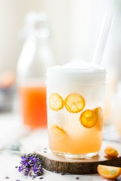 """Lavender Kumquat Shrub Recipe - From the blogger - You won't catch anyone singing, """"I don't want no shrub. A shrub is a drink that can't get no love from me."""" No. Instead they sing, """"Can't get enough of your shrub."""""""