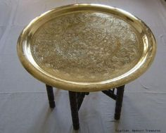 Bronze Tray Table. Moroccan ...