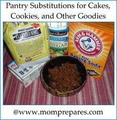 Baking With Pantry Substitutions: Baked Goods