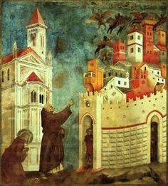 giotto..were italian hill towns painted like so in his time?