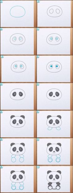Learn to draw a Panda! Learn to draw a Panda! Drawing Lessons, Art Lessons, Drawing For Kids, Drawing Ideas, Panda Drawing Easy, Drawing Tips, Drawing Style, Drawing Reference, Step By Step Drawing