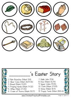 Easter story flip book religious easter story palm sunday and resurrection eggs for easter do it yourself versions to tell the easter story solutioingenieria Image collections