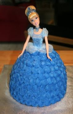 Gorgeous Cinderella cake. @Chrissy L melder.... can you make this?