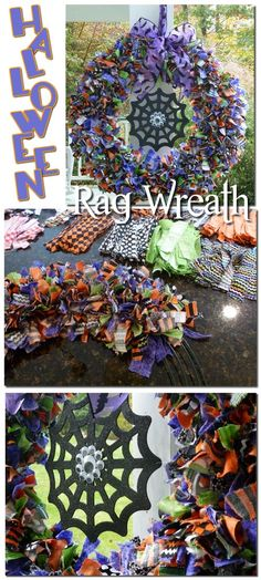 Halloween Rag Wreath... instructions and tips!
