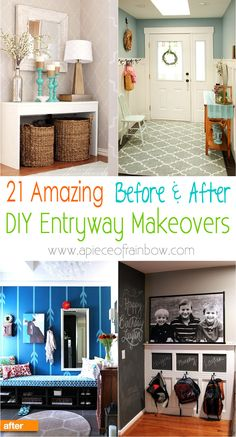 If you love before and after post then this must check out these before and after entryway makeovers for home.