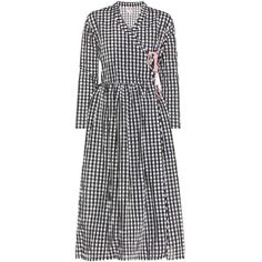 Shrimps Hermione Gingham Dress ($615) ❤ liked on Polyvore featuring dresses, multicoloured, multi-color dresses, multi color dress, gingham dress, white black dress and black and white gingham dress