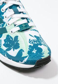 #adidas Originals ZX FLUX #Sneaker white/surf petrol/core black