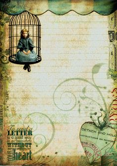 To Send A Letter ... - Writing Paper by fidgetrainbowtree, via Flickr. Awesome digital stationary to print & use. Please leave her a note on flickr if you use it :-)