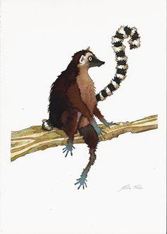 Giulia Ferla - Lemure - Ecoline e China su Carta