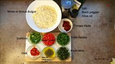 Vegan Bulgur Pilaf - Heesh ألذ و أطيب هيش البرغل Why Vegan, Tomato Paste, Fresh Mint, Nutrition, Stuffed Peppers, Meals, Cooking, Healthy, Recipes