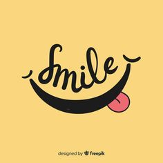 Smile vectors, photos and psd files Logo Sourire, Vector Design, Logo Design, Design Design, Smile Logo, How To Make Frames, Smile Wallpaper, Smile Design, Art Watercolor