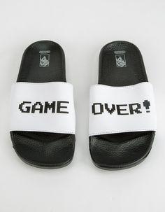 08ba2bf68bd13f Lacoste Fraisier Croc Slider Flip Flops. Ver más. VANS x Nintendo Game Over Womens  Sandals from Tillys Sandalias