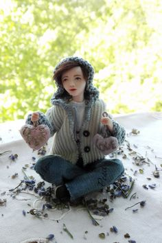 Miniature doll   OOAK handmade mini doll Allen от BalyginaArtDolls