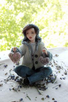 Miniature doll OOAK handmade mini doll Allen by BalyginaArtDolls Dollhouse Dolls, Miniature Dolls, Special Gifts For Her, Christmas Gifts For Husband, Tiny Dolls, Boy Doll, Love Gifts, Etsy Handmade, Art Dolls