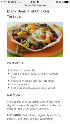 5 ingredient Black bean and Chicken tostada