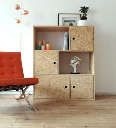 OSB trend: 20 ideas for adopting it indoors - Diy Möbel Osb Plywood, Plywood Furniture, Cool Furniture, Furniture Design, Plywood Storage, Modular Furniture, Furniture Stores, Diy Casa, Interior Design