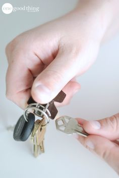 Use a staple remover to open your key ring - no more broken finger nails!