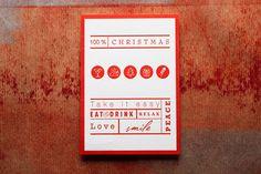 100% CHRISTMAS postcard. 100% letterpress. auf dem samtigen 701gramm Cotton-Papier von Metapaper aus der Papiermühle Zuber