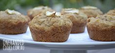 Apple cinnamon and half a banana muffins. One handed cooks.