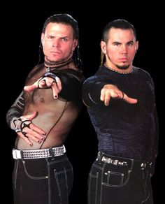 Matt and Jeff Hardy-The Hardy Boyz - love Jeff in that top - I like to see his nips! Hardy Boys Wwe, Wwe Jeff Hardy, The Hardy Boyz, Watch Wrestling, Wrestling Stars, Wrestling Wwe, Wwf Superstars, Wrestling Superstars, Hardy Brothers