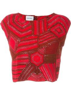 WornOnTV: Liza's red patchwork crop top and green skirt on Younger Crochet Bikini Top, Crochet Crop Top, Rachel Comey, Freeform Crochet, Knit Crochet, Blouse And Skirt, Beautiful Crochet, Crochet Clothes, Boho Fashion
