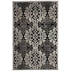 grey and black rug #zgallerie