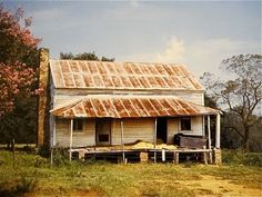 Photo by William Christenberry-- House Derelict Buildings, Old Buildings, Abandoned Houses, William Christenberry, Old Country Stores, American Gothic, Southern Gothic, Farm Houses, Old Barns