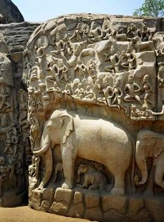 Slide Down Box Menu with jQuery and Elephant Sculpture, Vintage India, As Time Goes By, Lost City, Ancient Ruins, South India, Incredible India, Indian Art, Abandoned Places