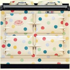 It is a match made in design heaven – Emma Bridgewater Polka Dot AGA Cooker. Emma Bridgewater has made a name for herself with cute retro designs and you Aga Oven, Aga Cooker, Emma Bridgewater Pottery, Weird And Wonderful, Vintage Kitchen, Vintage Stove, Retro Stove, Whimsical Kitchen, Ideal Home