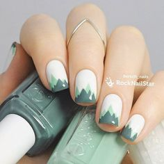 30 Fish Nail Art Ideas which is the trending manicure design of 2019 - - Cute Nail Art, Cute Nails, Pretty Nails, Nail Art Designs, Basic Nails, Minimalist Nails, Green Nails, Green Nail Art, Nagel Gel