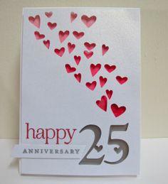 Love this. Cut on the Cricut. Simple but elegant. Swanlady Impressions: 25th Wedding Anniversary