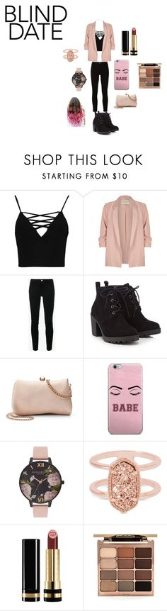 Simple But Chic by infinityisangel on Polyvore featuring Boohoo, River Island, Frame, Red Herring, LC Lauren Conrad, Kendra Scott, Olivia Burton, Stila and Gucci