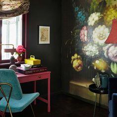 Grotte FR1167. Fargen er en mystisk mørk grønn tone. Fargen gir både dybde og et urbant preg. #Rosa#Åretsfarge2016#Merlot#Fargekart#Fargerike#grønn#blomster#tapet#inspirasjon#skatoll#green#pink#flowers#inspiration Ikea, Home Appliances, House, House Appliances, Ikea Co, Home, Appliances, Homes, Houses