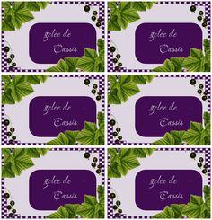 Étiquettes pour gelée de cassis - Carterie Bilitis