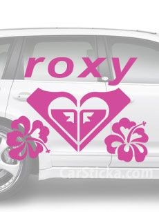 Roxy Hibiscus Surf car vinyl sticker decal /A