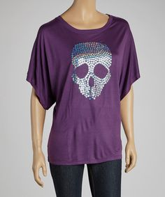 Take a look at this Purple Skull Graphic Top on zulily today!