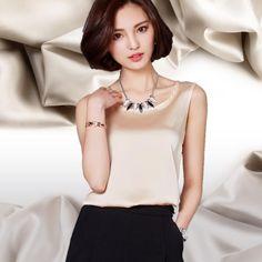 2016 Silk Tanks Blouses Plus Size Woman Clothes Blusa De Renda Vest 2xl Camisas Mujer Vetement Femme Womens Summer Tops Fashion From Doment1, $22.71 | Dhgate.Com