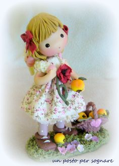 doll pasta mais,regalo, bambolina porcellana fredda,
