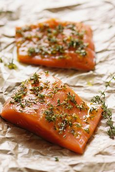 Slow Baked Lemon & Thyme Salmon | Leeves & Berries