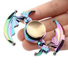 ECUBEE Zinc Alloy Hand Spinner Colorful Bat Shape Finger Fidget Spinner Reduce Stress